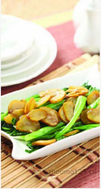 板栗烧菜心板栗入菜的做法