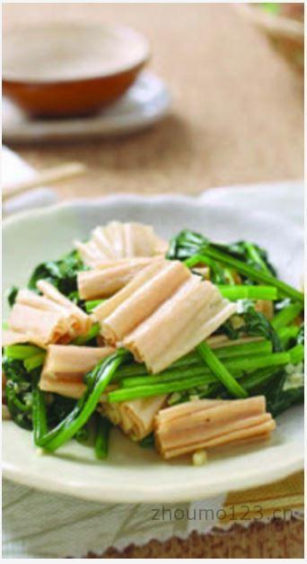 腐竹拌菠菜腐竹及菠菜的做法